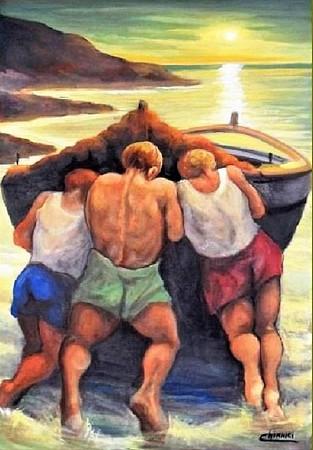Pescatori con barche