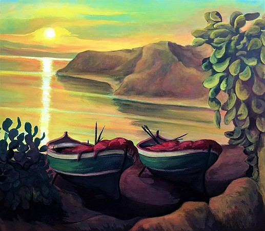 Seascape and boats