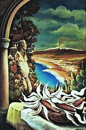 Natura morta con Etna