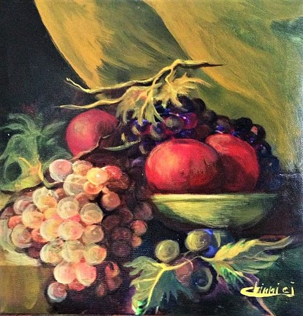 Fruits wrapped in veils