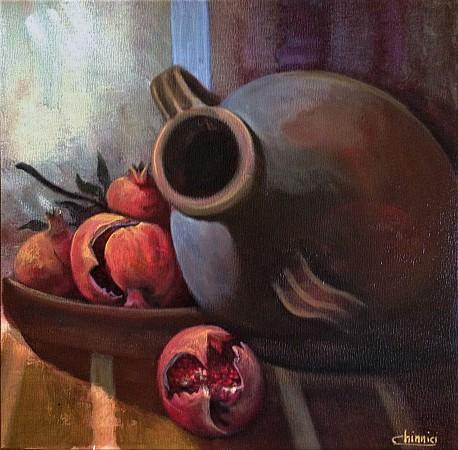 Amphora and Pomegranates