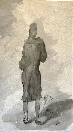 Woman in the shadow