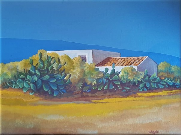 Landscape with Prickly Pear